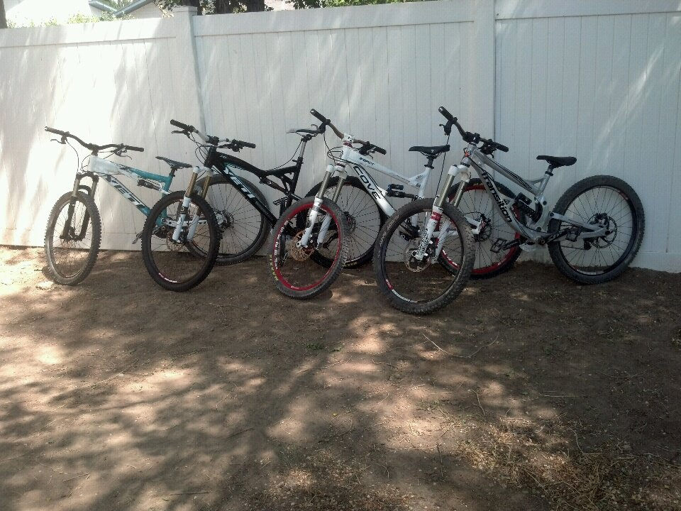 My quiver of bikes…