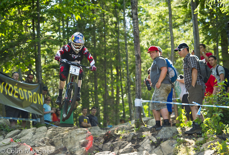 The end of flat pedals for World Cup DH racing?