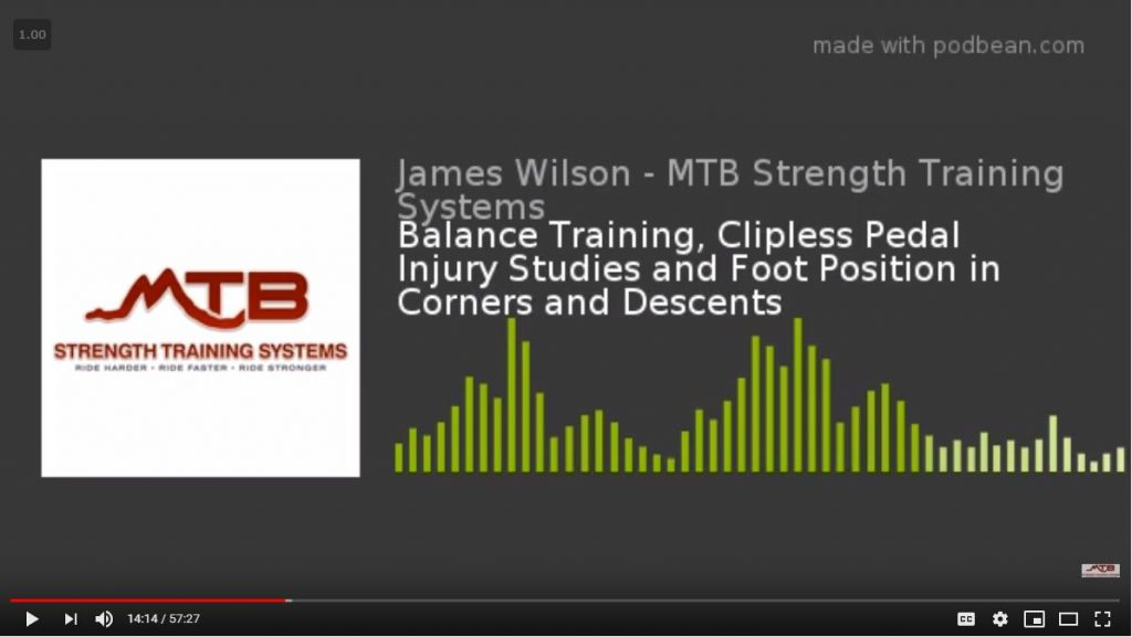 BikeJames Podcast – Balance Training, Clipless Pedal  Injury Studies and Foot Position in Corners and Descents