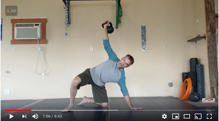 At Home Kettlebell Workout for MTB Using Isometrics and Hybrid Exercises